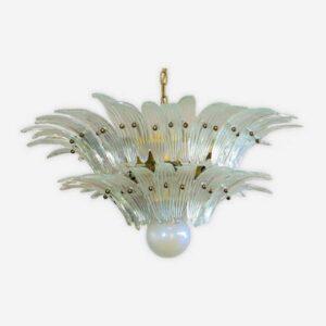 Murano lampe i mundblæst perlemor glas