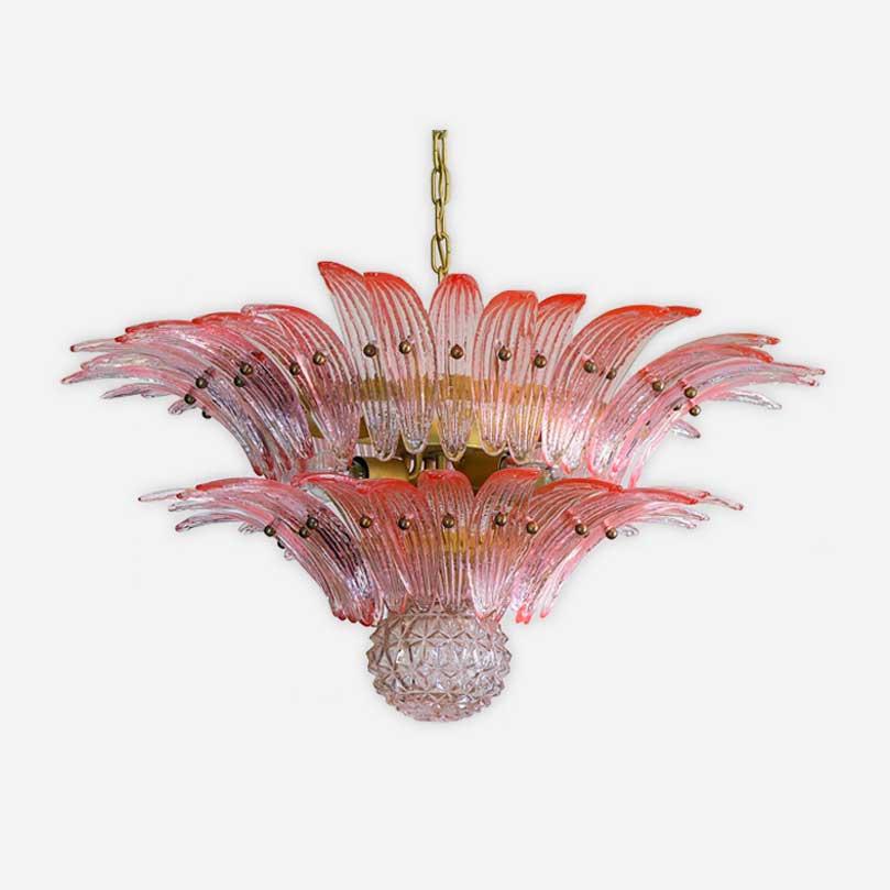 rosa palmette muranolampe
