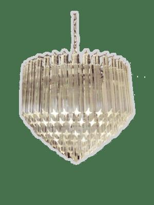 Murano-lysekrone-klare-prismer-lille-kristallkrona