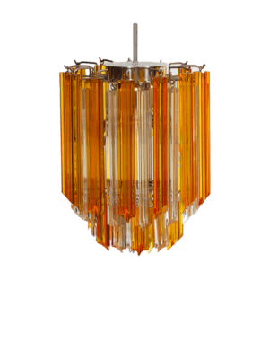 Murano-lysekrone-rav-klare-prismer-kristallkrona