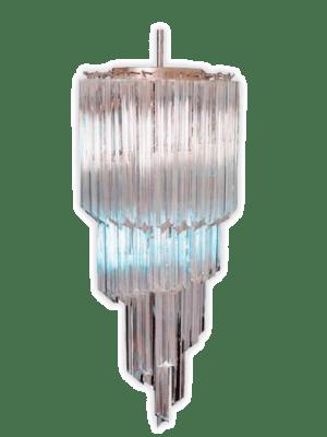 Murano lysekrone spiral klar 54 prismer