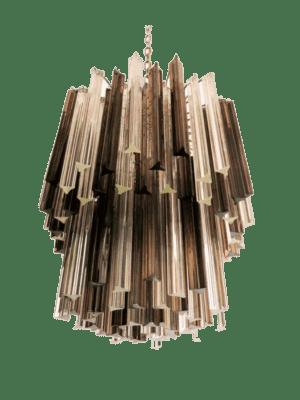 murano lampe tridei rogfarvet klar
