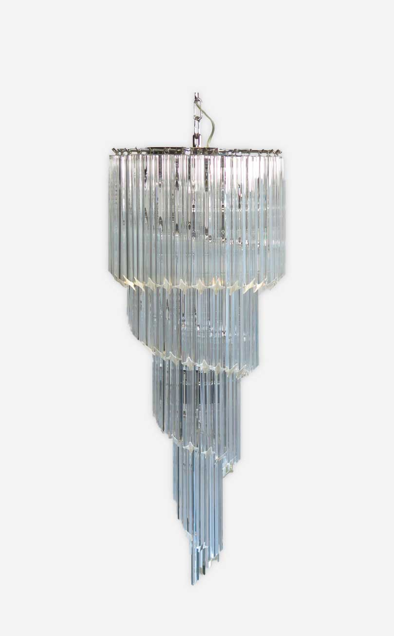 Murano lysekrone Spiral