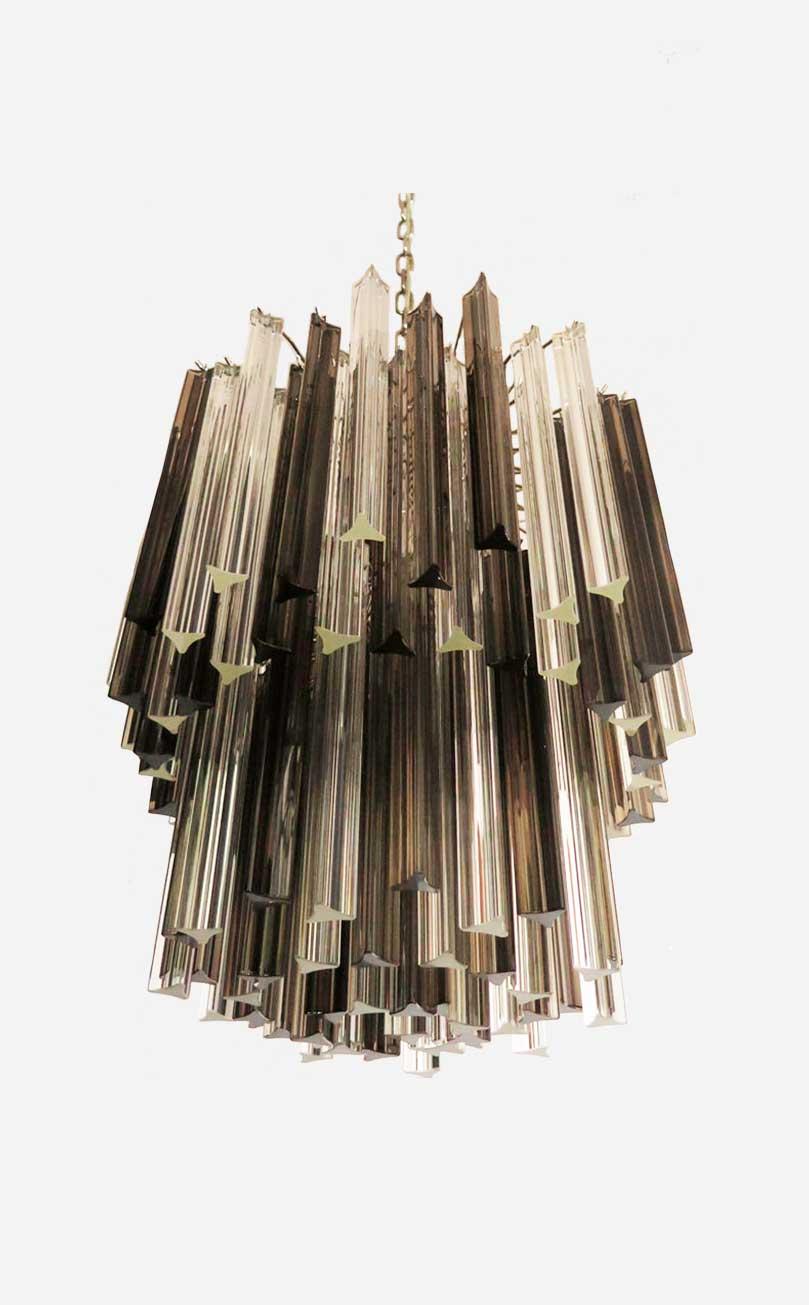 røgfarvet Murano lampe
