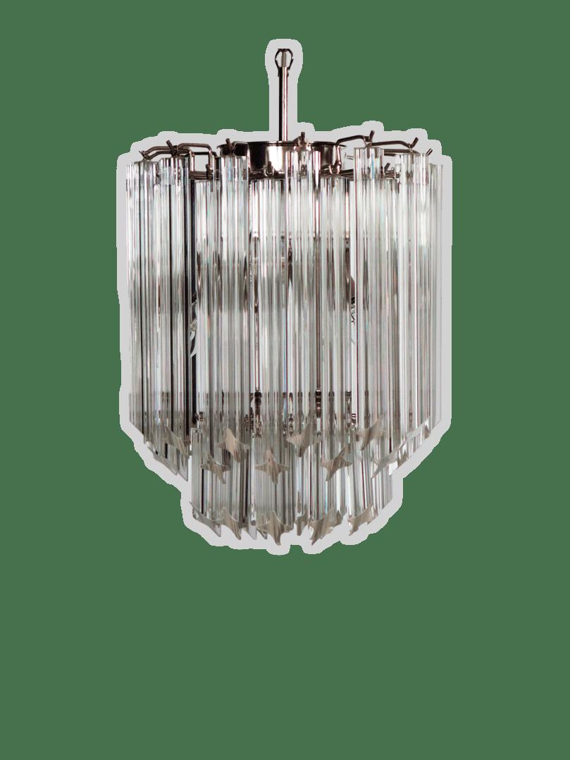 Murano-lysekrone-klare-prismer-kristallkrona