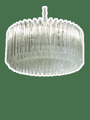 Murano lysekrone rund stor kristallkrona