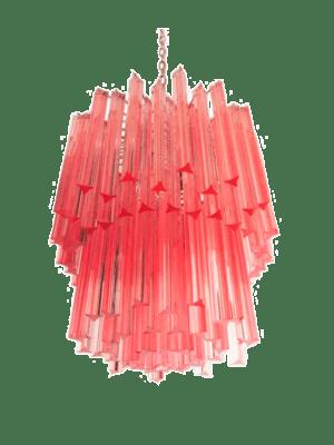Murano Lysekrone - 107 prismer - Rosa
