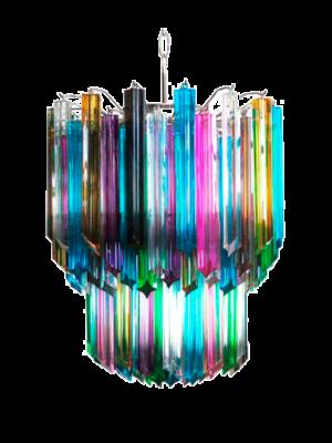 Murano lysekrone 107 multi prismer