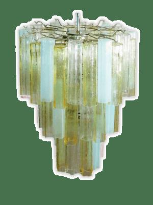 Murano lysekrone 48 tuber klar opal gu