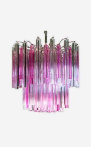 Muranolampe-arianna-murano-rosa-og-klar-loftslampe