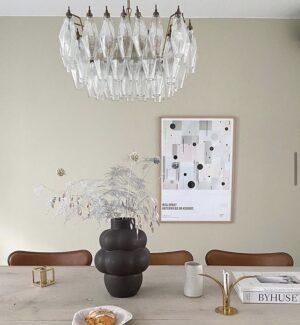 Murano poliedri klar muranolampe loftslampe
