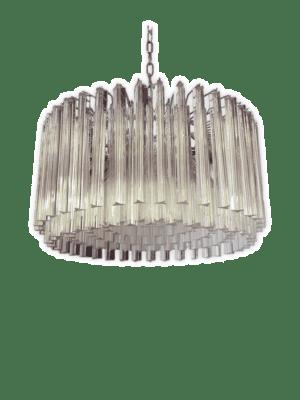 Murano-lysekrone-rund-lille-kristallkrona