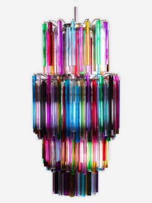 multi farvet murano lampe lysekrone med smukke prismer