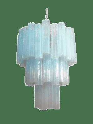 Murano lysekrone 48 tuber opal