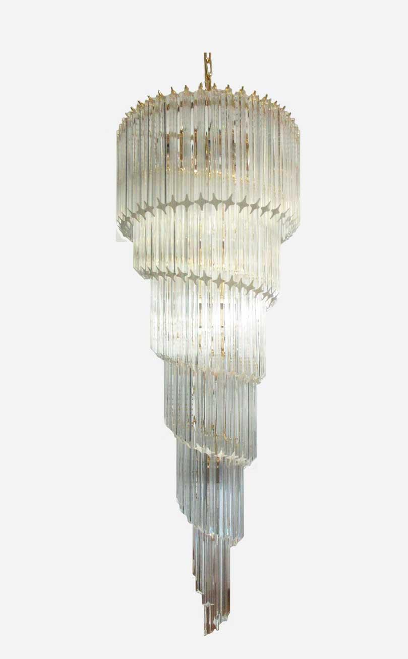 Murano - Spiral - klar - xxl