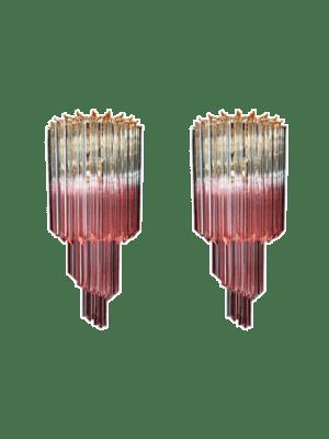 Murano - Væglamper - rosa med fade