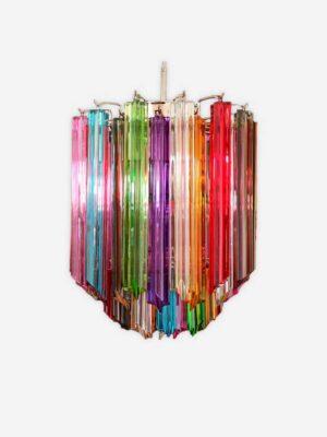 Multifarvet murano lysekrone i smukke prismer