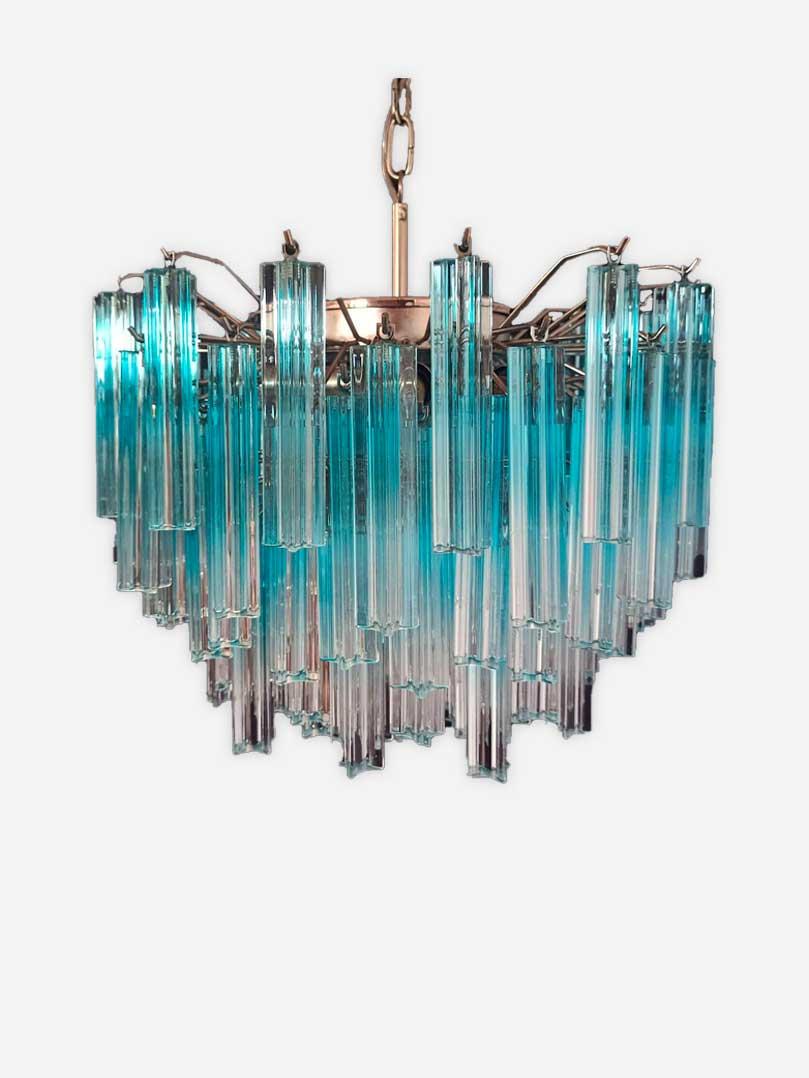 Blå til klar muranolampe lysekrone