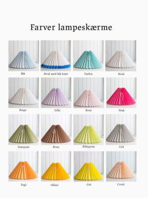 farver på lampeskærme