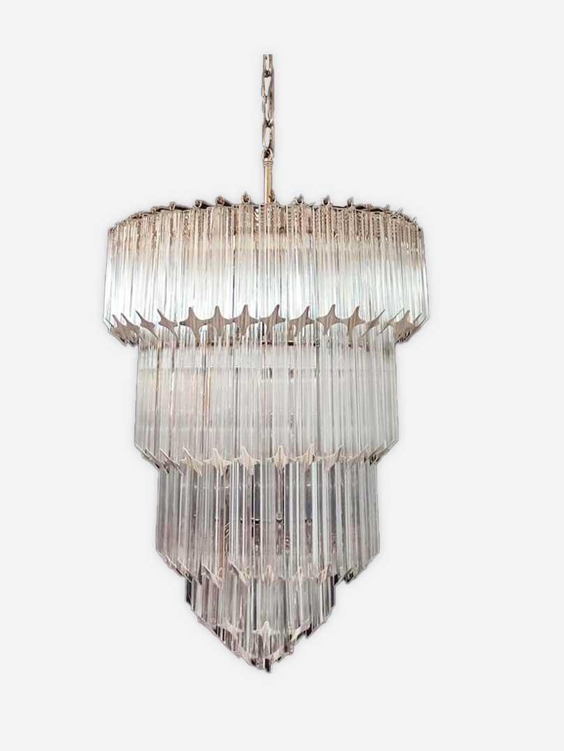 Murano lysekrone i klare prismer