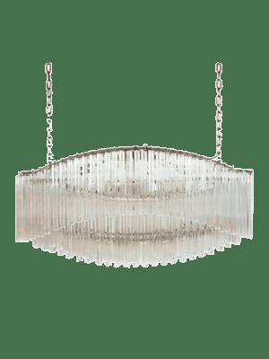 Murano lysekrone aflang klare prismer