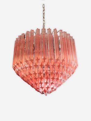 rosa muranolampe lysekrone