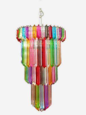 multifarvet murano lysekrone på