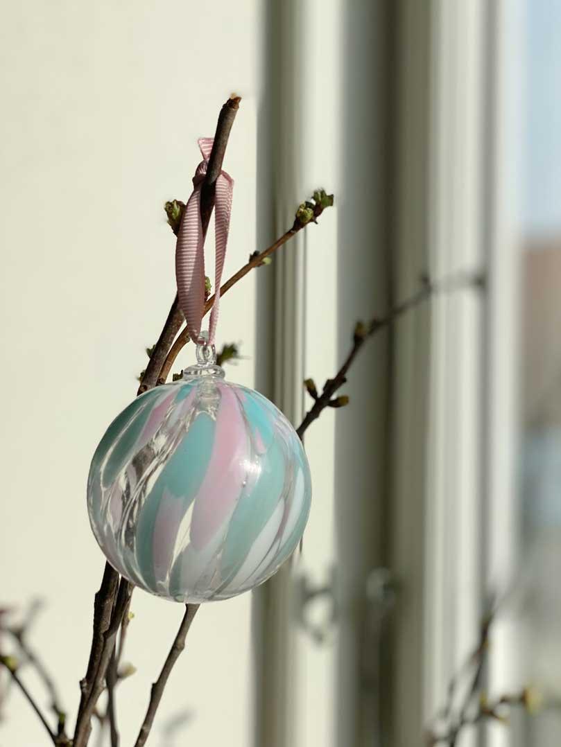 Murano glaskugler påskepynt julepynt