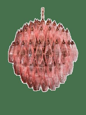 Murano lysekrone 140 glas rosa