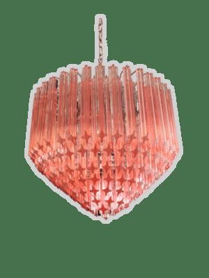Murano-lysekrone-spids-rosa-kristallkrona