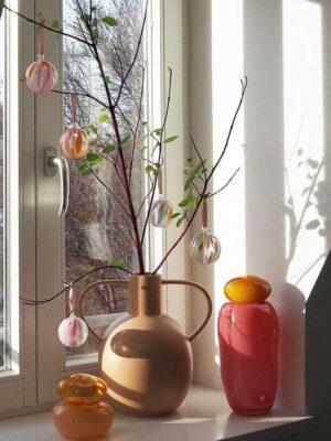 mundblæste murano glaskugler julekugler påskepynt