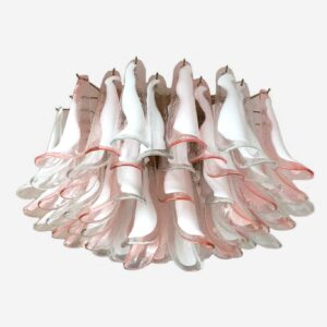 Murana loftslampe i ros og klart glas