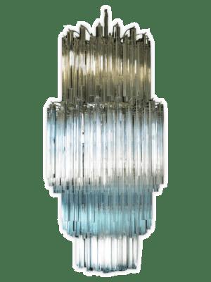 Murano lysekrone 242 klare prismer