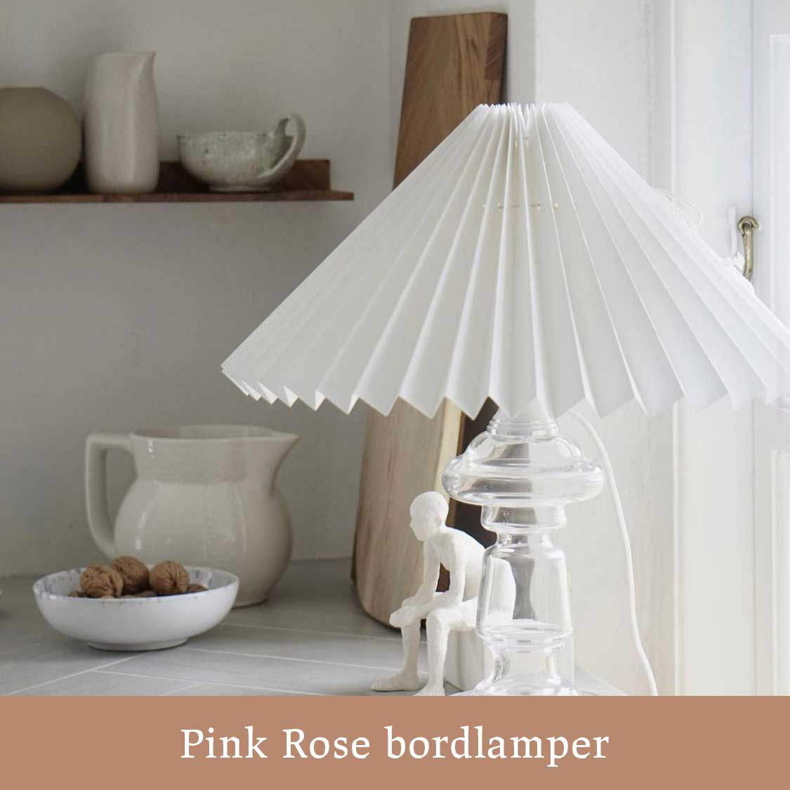 Pink Rose lampe hos Cherry Vintage
