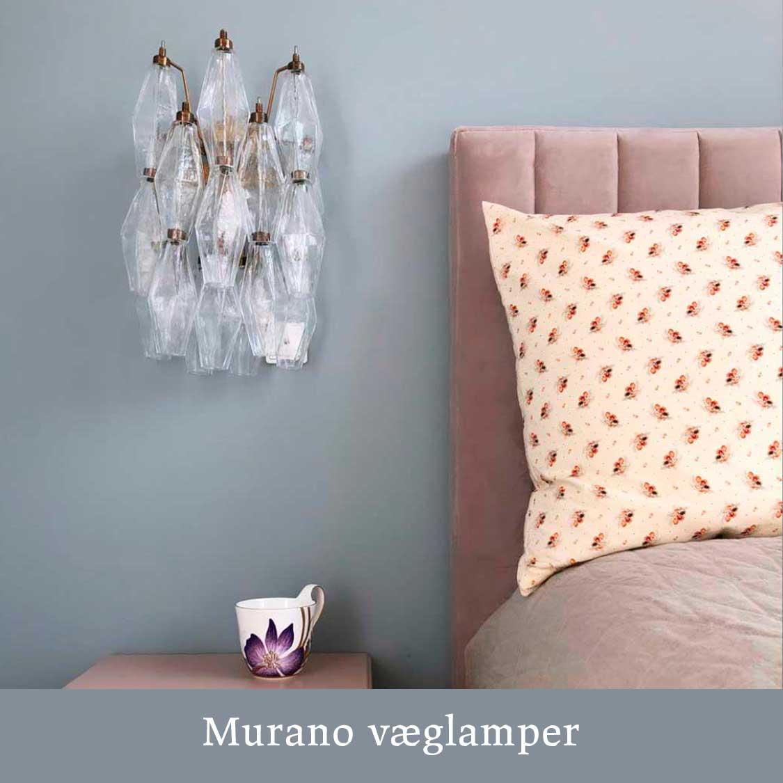 Murano væglampe, hos Cherry Vintage