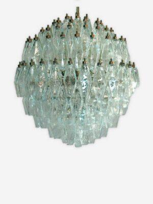 3414 - klar rund poliedri Murnao lysekrone