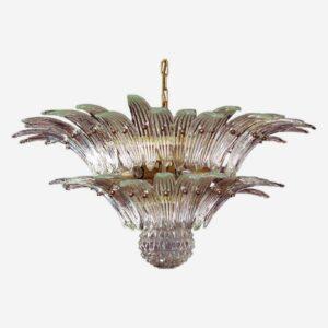 Murano lysekrone i klart glas