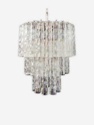 klar bambus tube murano lysekrone