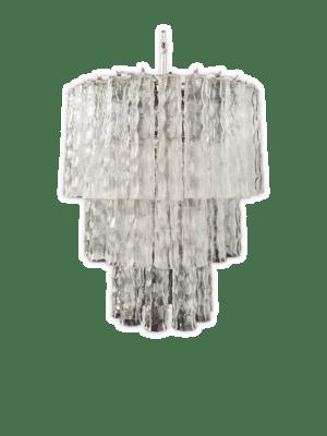 Murano-lysekrone-klare-tuber-bambus-kristallkrona