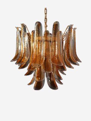 murano lysekrone rav brun