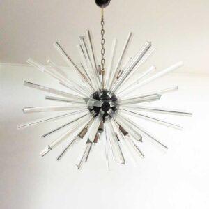 murano lysekrone sputnik klare prismer