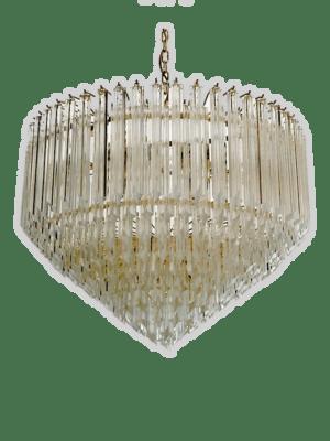 Murano-lysekrone-spids-klare-prismer-kristallkrona