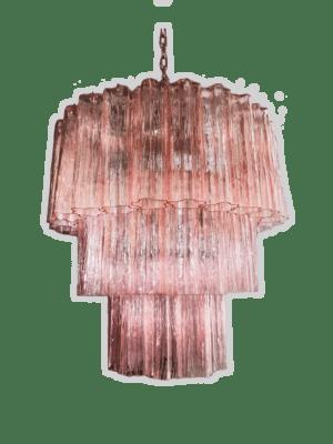 Murano-lysekrone-52-tuber-rosa-