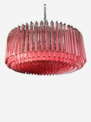 murano lysekrone 391 rosa prismer