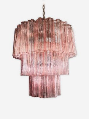murano lysekrone rosa 52 tuber