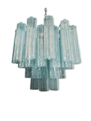 murano lysekrone frost tube kristallkrona
