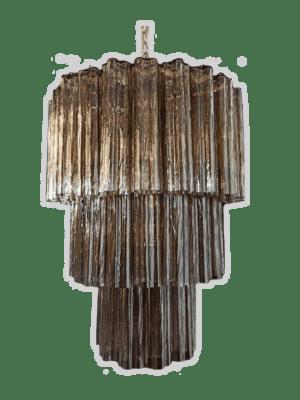 murano lysekrone tube brun rogfarvet