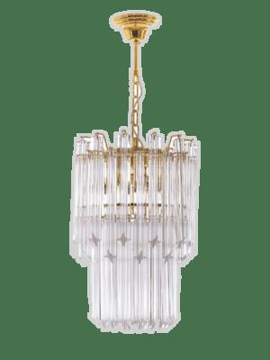 Murano lysekrone 40 klare prismer kristallkrona