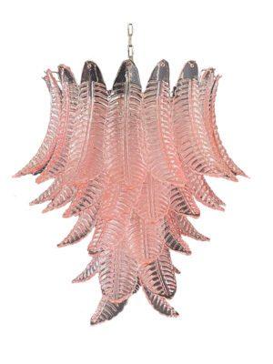 Murano lysekrone 52 rosa blade