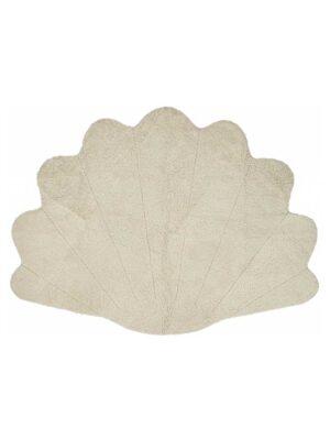 Musling - Design tæppe af førsteklasses fåreskind - Krøllet uld - 210x150 cm. - Perle